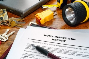 A picture of the inspection report from a home we inspected recently