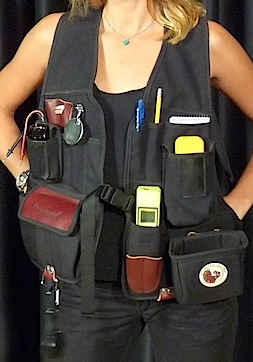 A picture of a woman wearing an inspection vest